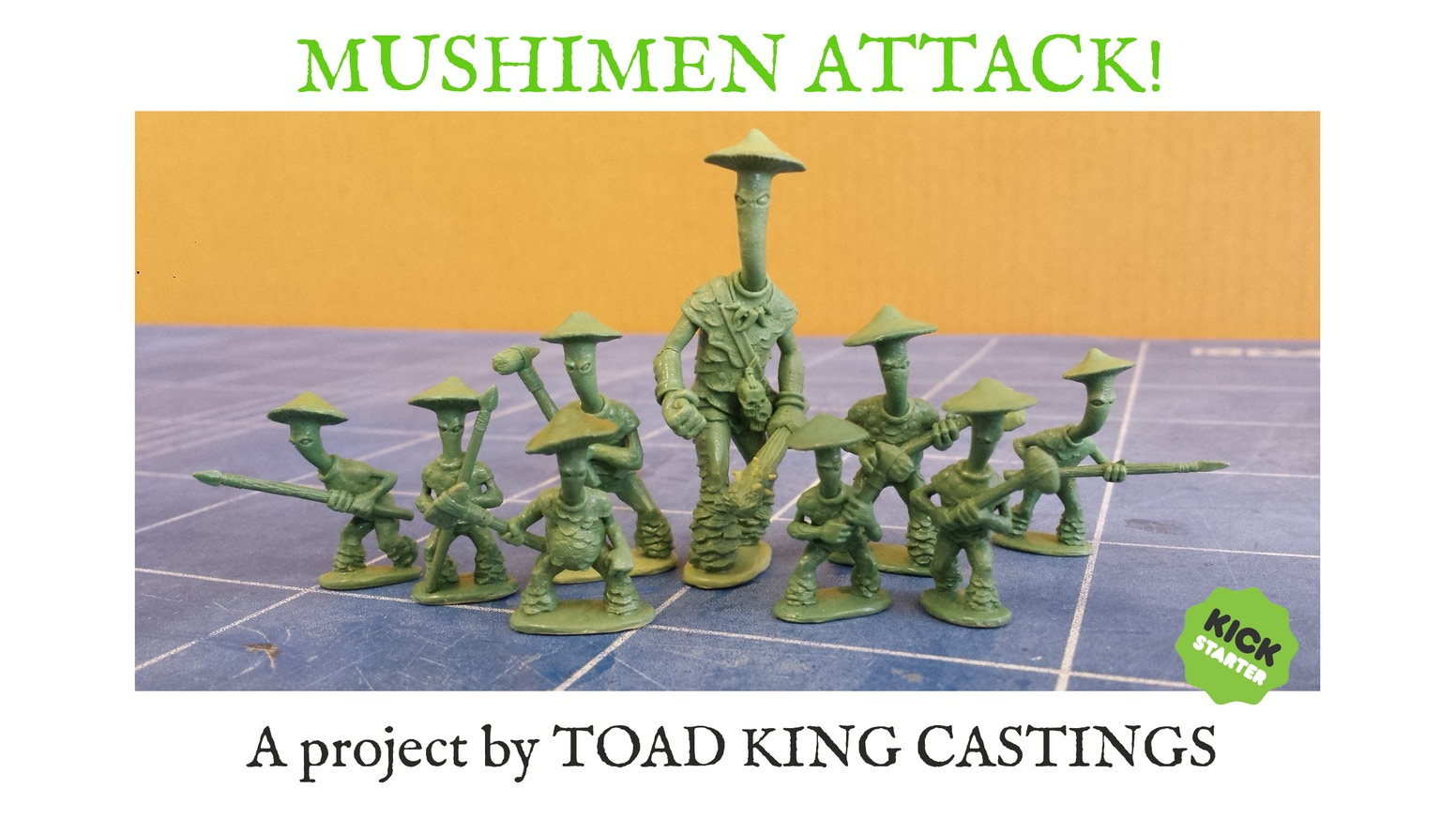 Help me fund the production a range of 28mm mushroom men miniatures and fungi creatures.