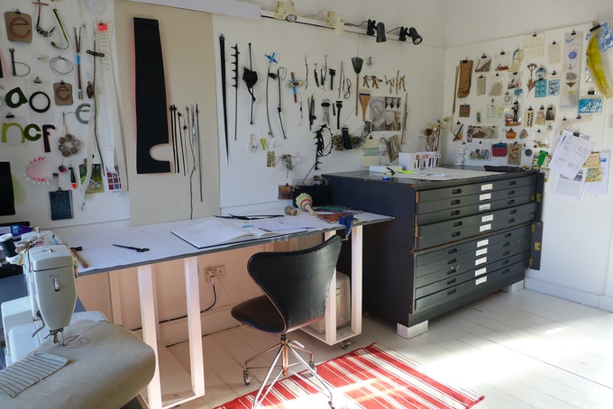 A sunny day in my (tidy) studio!