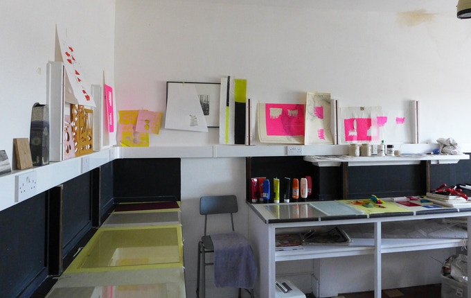 Printing at Off the Rails Arthouse
