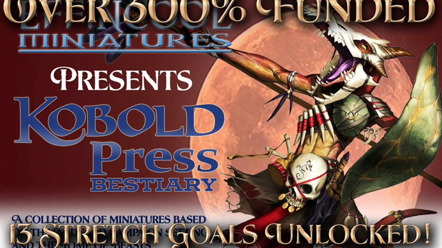 A collection of 28mm scaled miniatures based on the Midgard campaign setting as well as the Tome of Beasts from Kobold Press!
