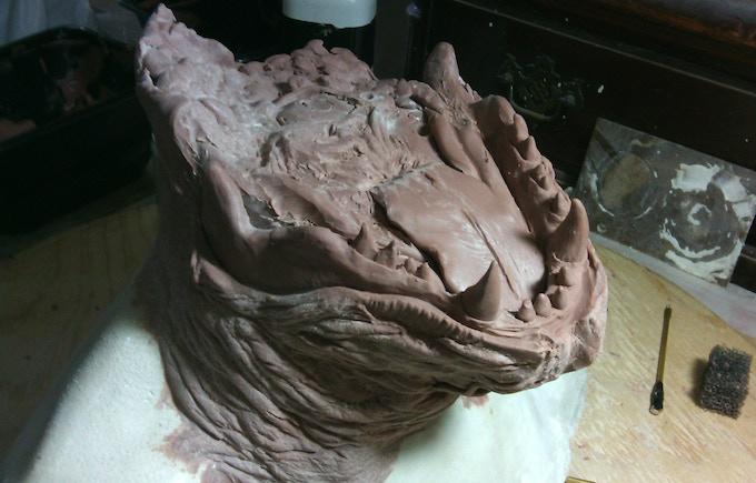 FX Artist's Clay Wolf Sculpture