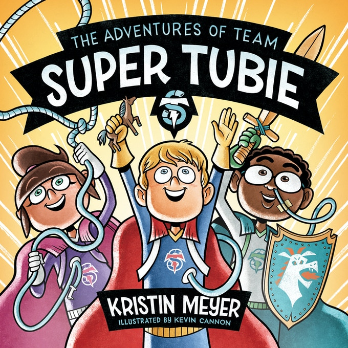 The Adventures of Team Super Tubie is a new book which depicts children with feeding tubes as superheroes who use their feeding tubes to heroically save the day!