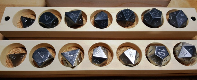 Silver and Blackened Zirconium in Polyhedral form.