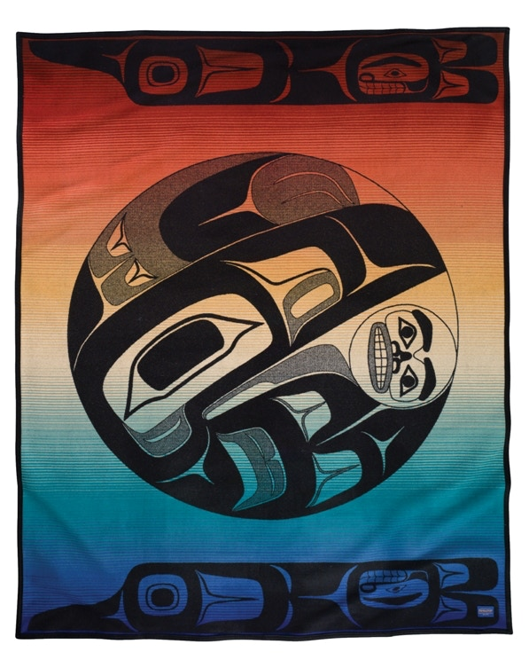 """""""Raven and the Box of Knowledge"""" Pendleton Blanket - Includes """"Raven"""" Serigraph - Pledge Level $500"""