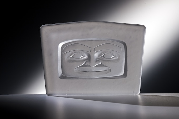 """""""Spirit Face"""" Open Edition Cast Glass -  In Addition to Glass Studio Tour Package - Pledge Level $1,000"""