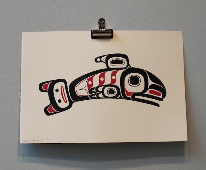 """Salmon"" Signed Serigraph Print -  Pledge Level $100"