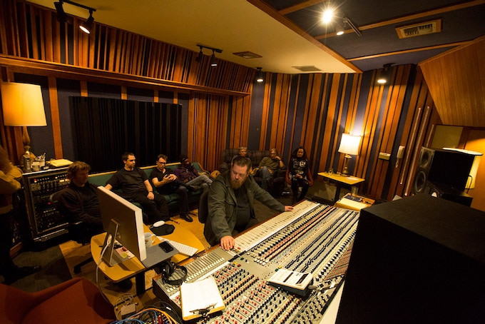 """Khu.éex' at the Recording Studio for """"The Wilderness Within"""""""