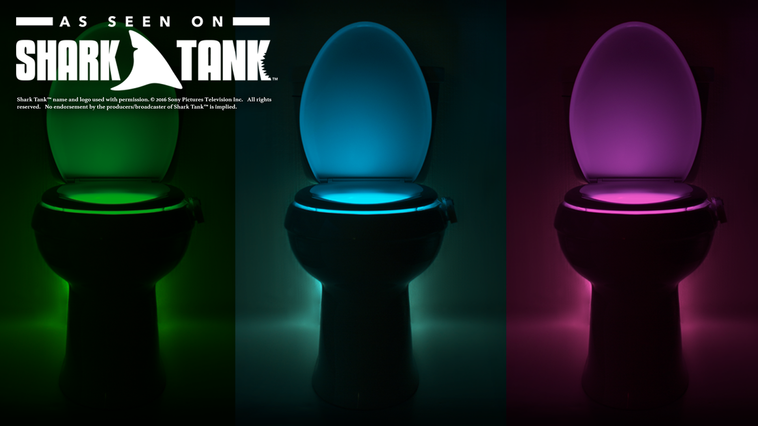 The world's first toilet night light is back with a NEW never-fall arm, dimmer & more colors! Comes with a Lifetime Guarantee!