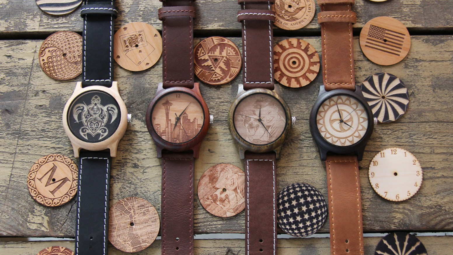 woodburn watches custom made laser engraved wooden watches by