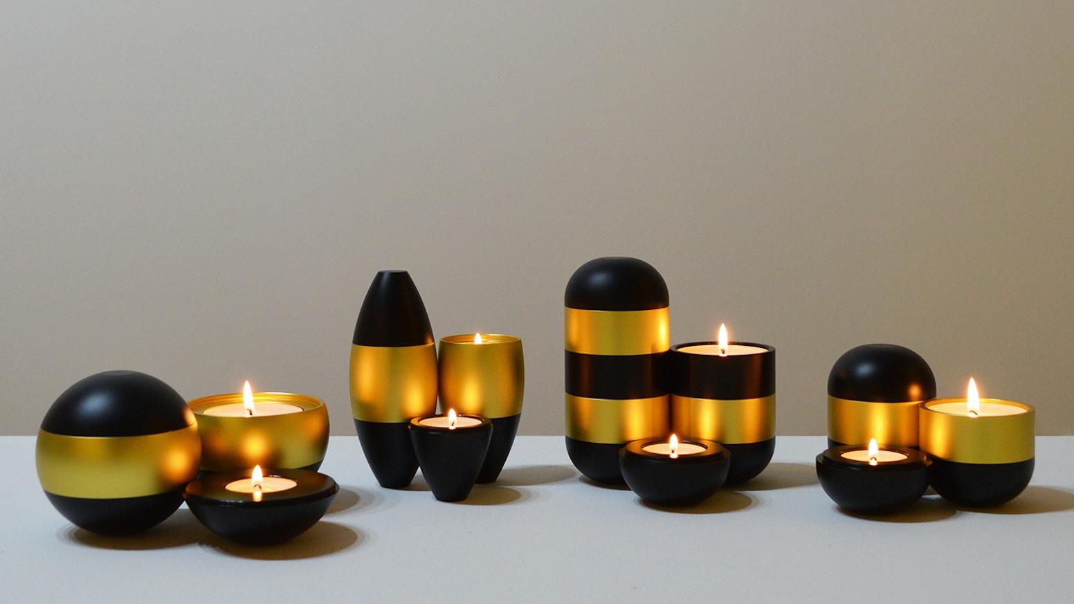 Interlocking Candle Holders