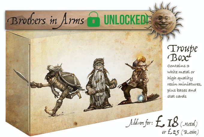 The Brothers In Arms Troupe Box contains: Young Jack, Gradock and Morris