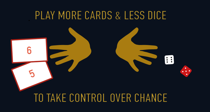 using Control-Cards influences your dice rolls