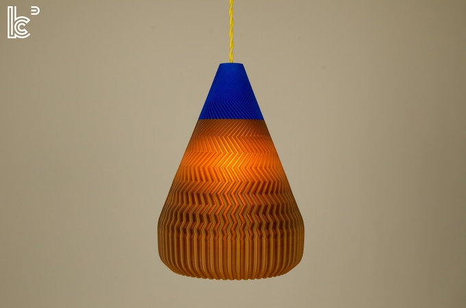Ramen pendant light in coffee matte blue