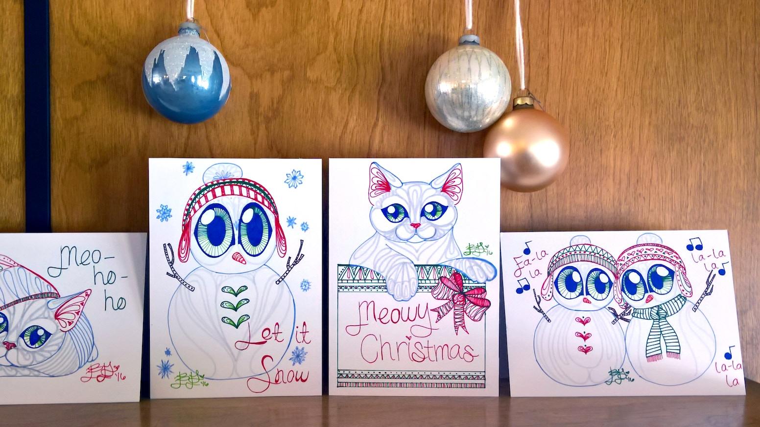 brelynne s christmas card art by brelynne gunderson kickstarter