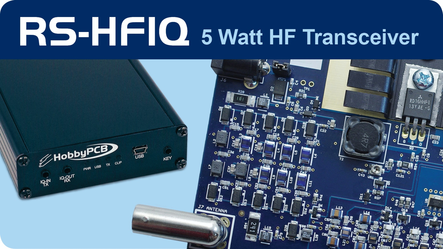 RS-HFIQ 5W Software Defined Radio (SDR) Tranceiver by HobbyPCB LLC