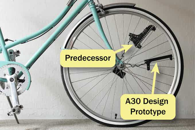 How our A30 will look compared to its predecessor