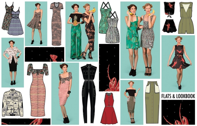 Kate Bigelow - Check out these old school designs our costume consultant did for the brand Vena Cava. Kate is currently the Associate Designer for Lou & Grey – both knit & woven. One of her original White Knuckle character costume designs could be yours!