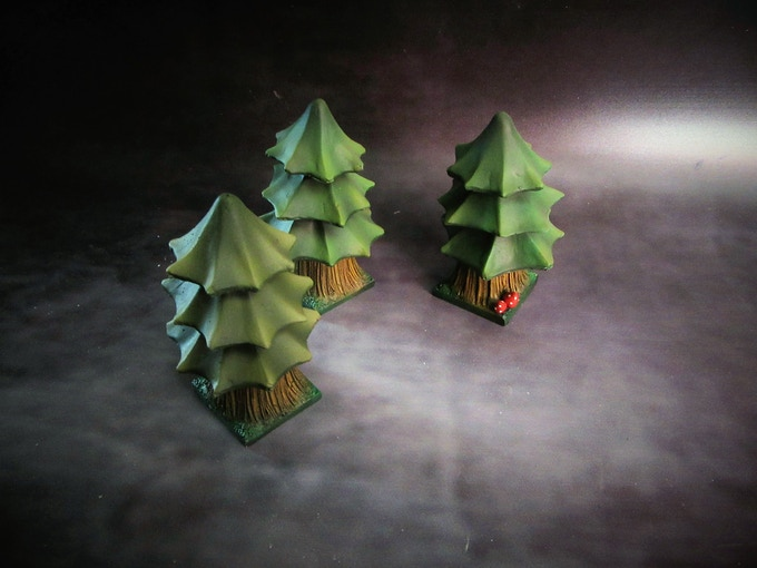 Chibi Alpine trees (Supplied unpainted) 240g