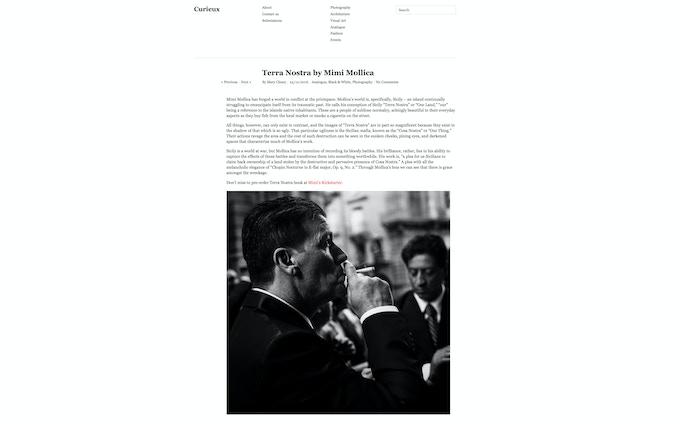 Curieux Magazine feature