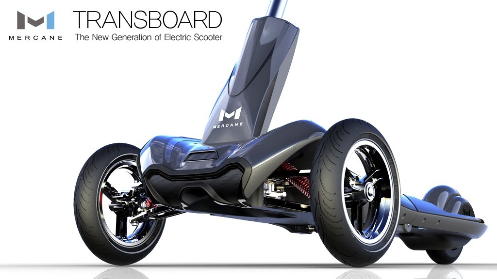 Foldable Electric Scooter - Mercanewheels TRANSBOARD project video thumbnail