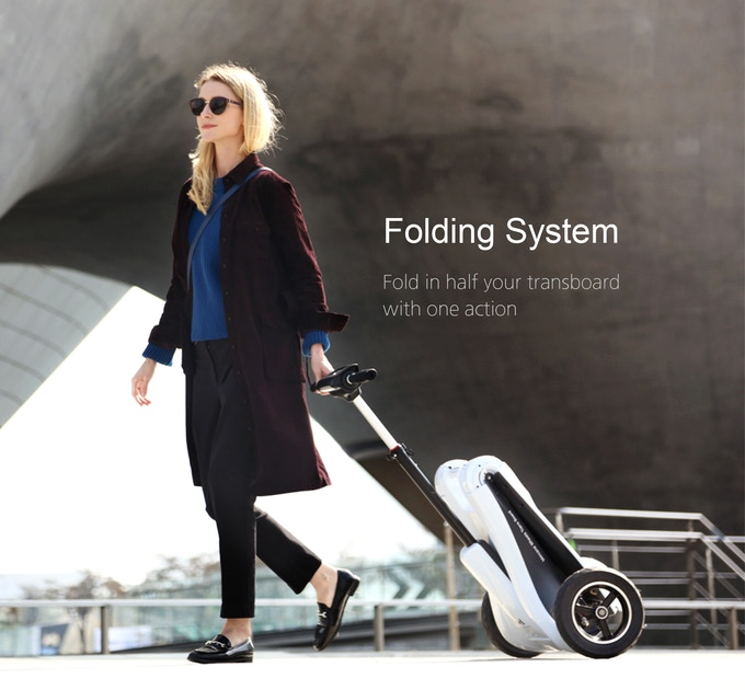 Foldable Electric Scooter Mercanewheels Transboard By