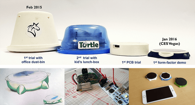 Evolution from a mini-dustbin to a form-factor demo!