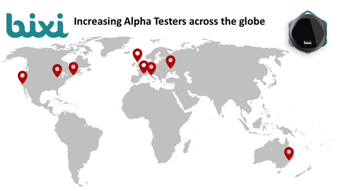 October'16: Bixi Alpha Testers across the globe