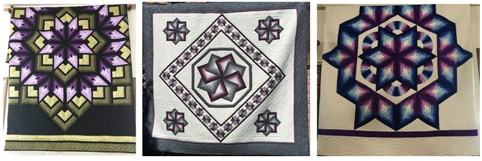 Captain's Star, Star Spin, and Chrysalis Star Quilt Patterns