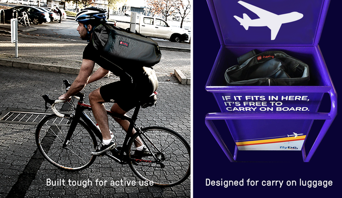Thoughtfully designed for active commuting and airplane travel