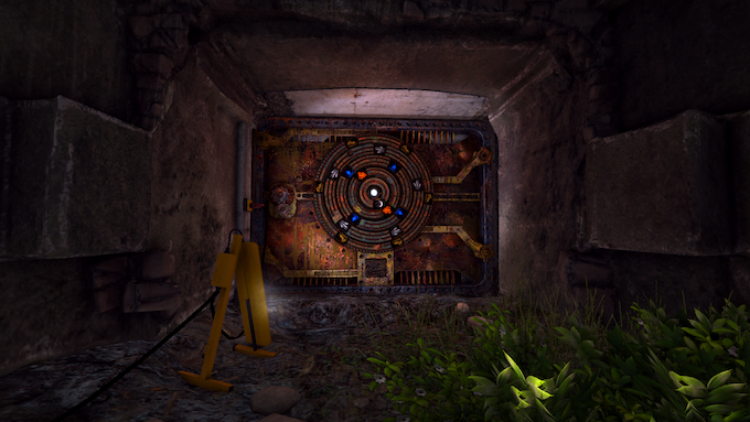 Another locked door at the entrance of a bunker