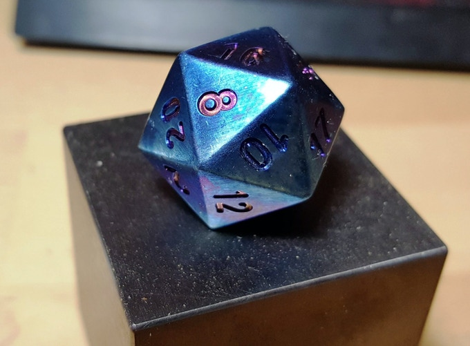 Flame Blued Titanium - Oh yea... prismatic numbers...OH YEA!
