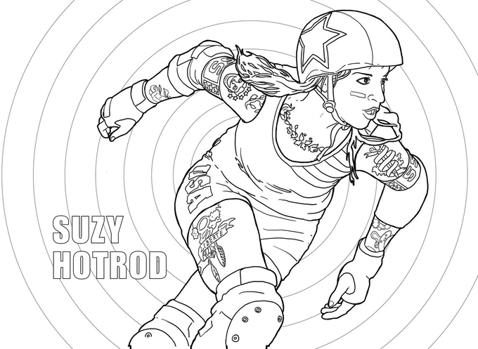 Color Jam: Roller Derby Coloring Book by Margot Atwell