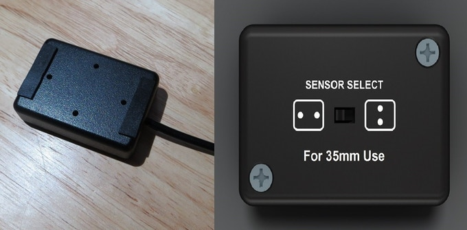 here's a front and back view of the dual sensor module showing the selector switch to select which pair of sensors is used in the testing