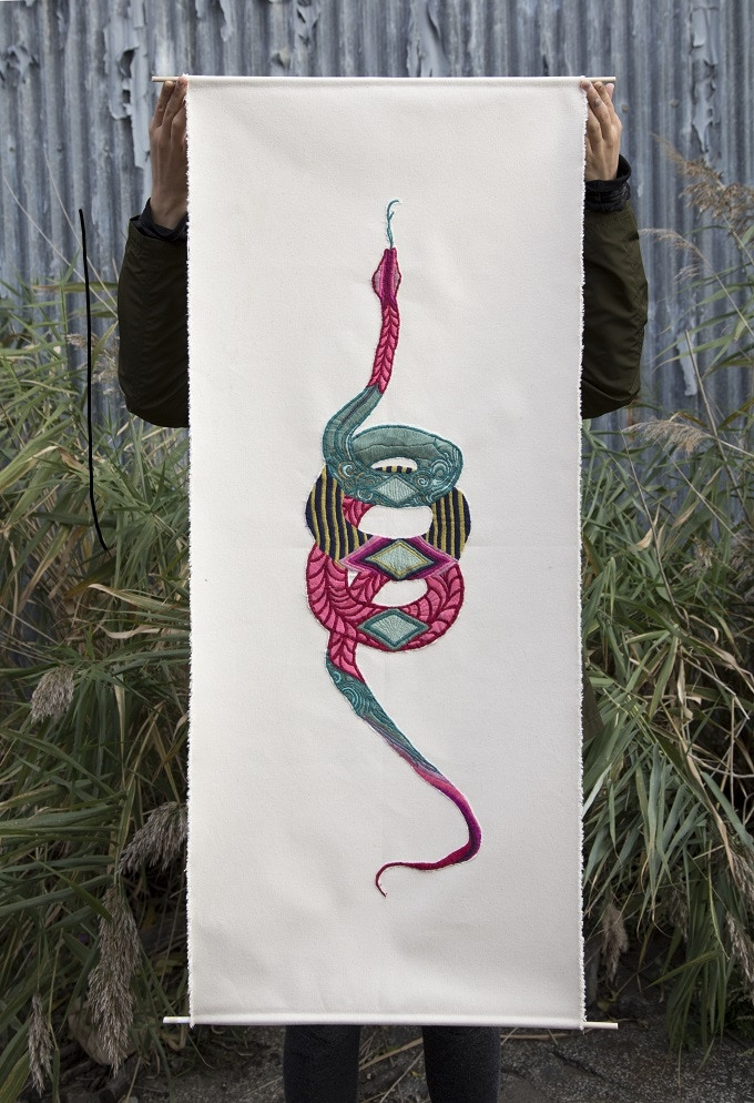 $300 - Embroidered wall tapestry