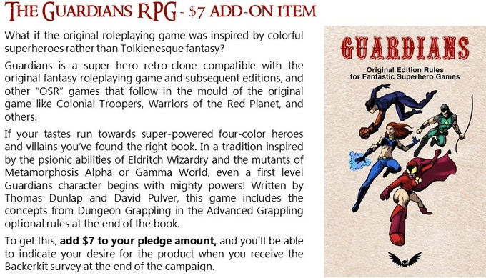 Dungeon Grappling RPG Supplement by Douglas H  Cole
