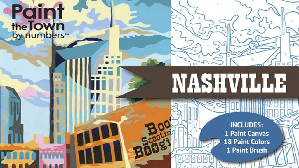 Paint the Town by Numbers Nashville, a paint by numbers kit project video thumbnail