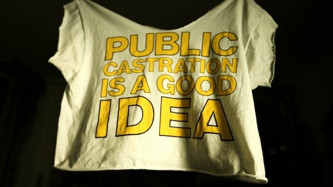 Original PCIAGI shirt worn and cut by Jarboe
