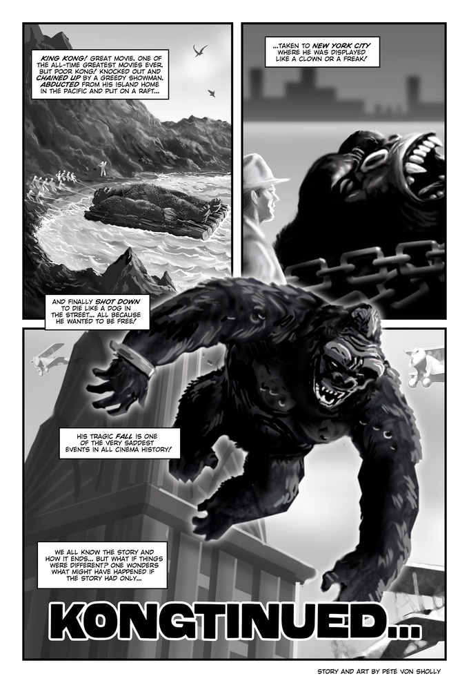 Sample page! Kong with a different ending!