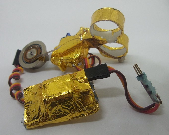 Example gold foiled components
