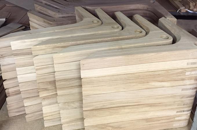 Table base before finishing and varnishing