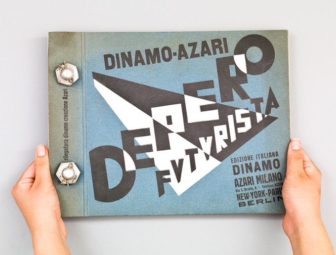 "From $119–$268: The Bolted Book Facsimile will be an exact copy of this original ""Depero Futurista,"" Dinamo-Azari, Milan, Italy, 1927, 12.5 x 9.5 in. (32 x 24.2 cm), and will be accompanied by a Reader's Guide."