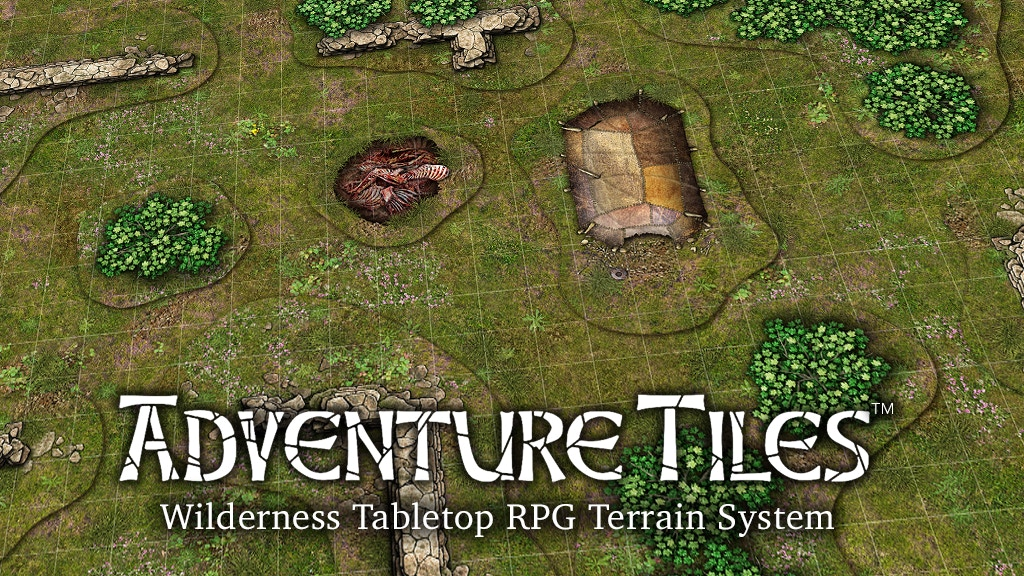Adventure Tiles - Wilderness Tabletop RPG Terrain System project video thumbnail
