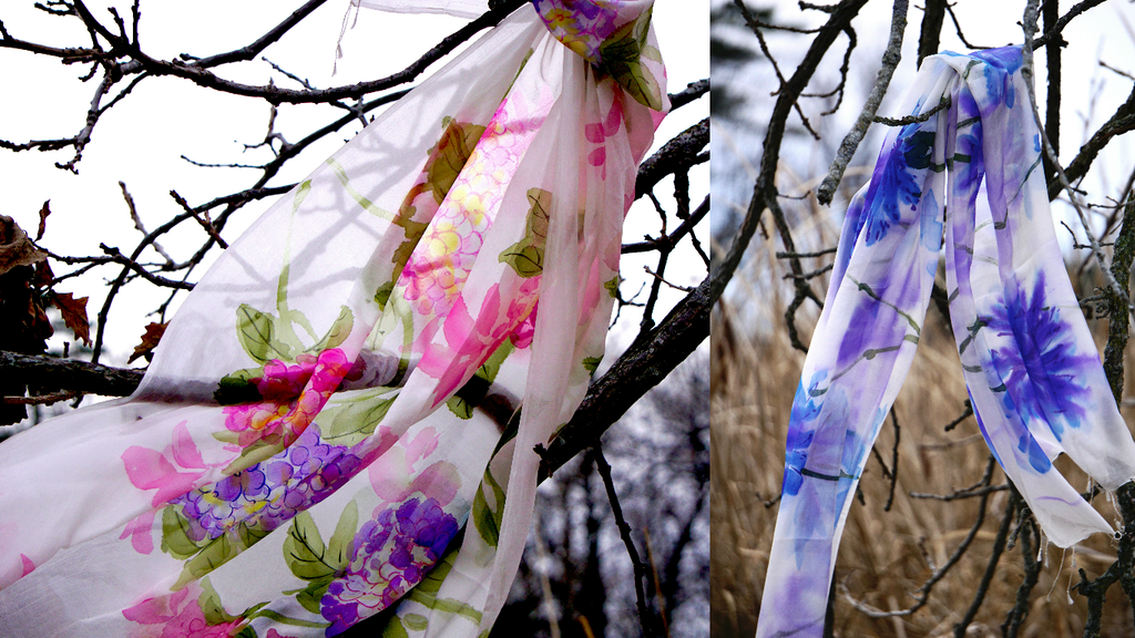 World's First Ethically Produced Hand Painted Scarf Line project video thumbnail