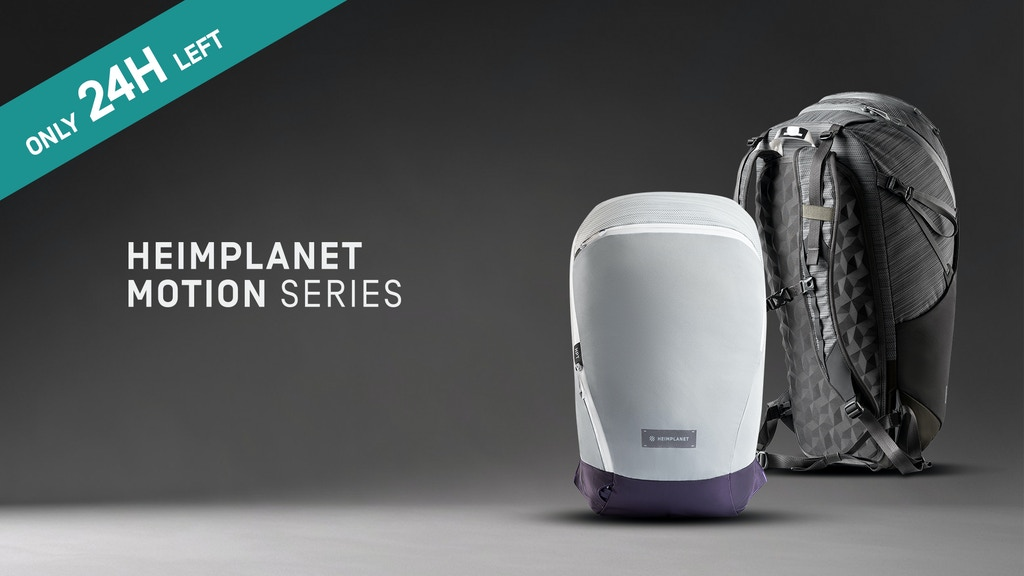 The HEIMPLANET MOTION Series Active Backpacks project video thumbnail