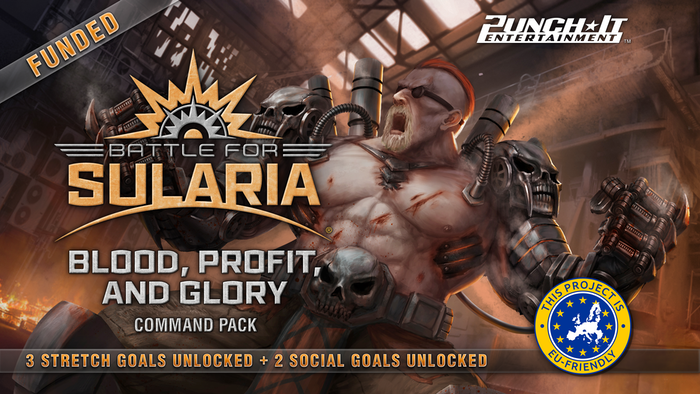 Blood, Profit, and Glory is a new game expansion for Battle for Sularia. Featuring cards for Mercenary, Jotune, and Synthien factions!