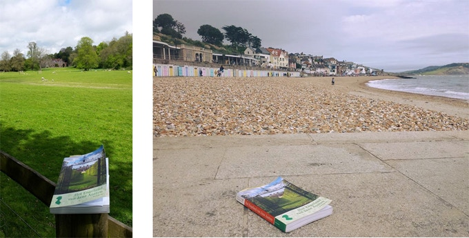 Dyanne went on a Jane Austen pilgrimage in 2015 and 2016 and made these photos of her well-thumbed copy in Chawton and Lyme Regis.