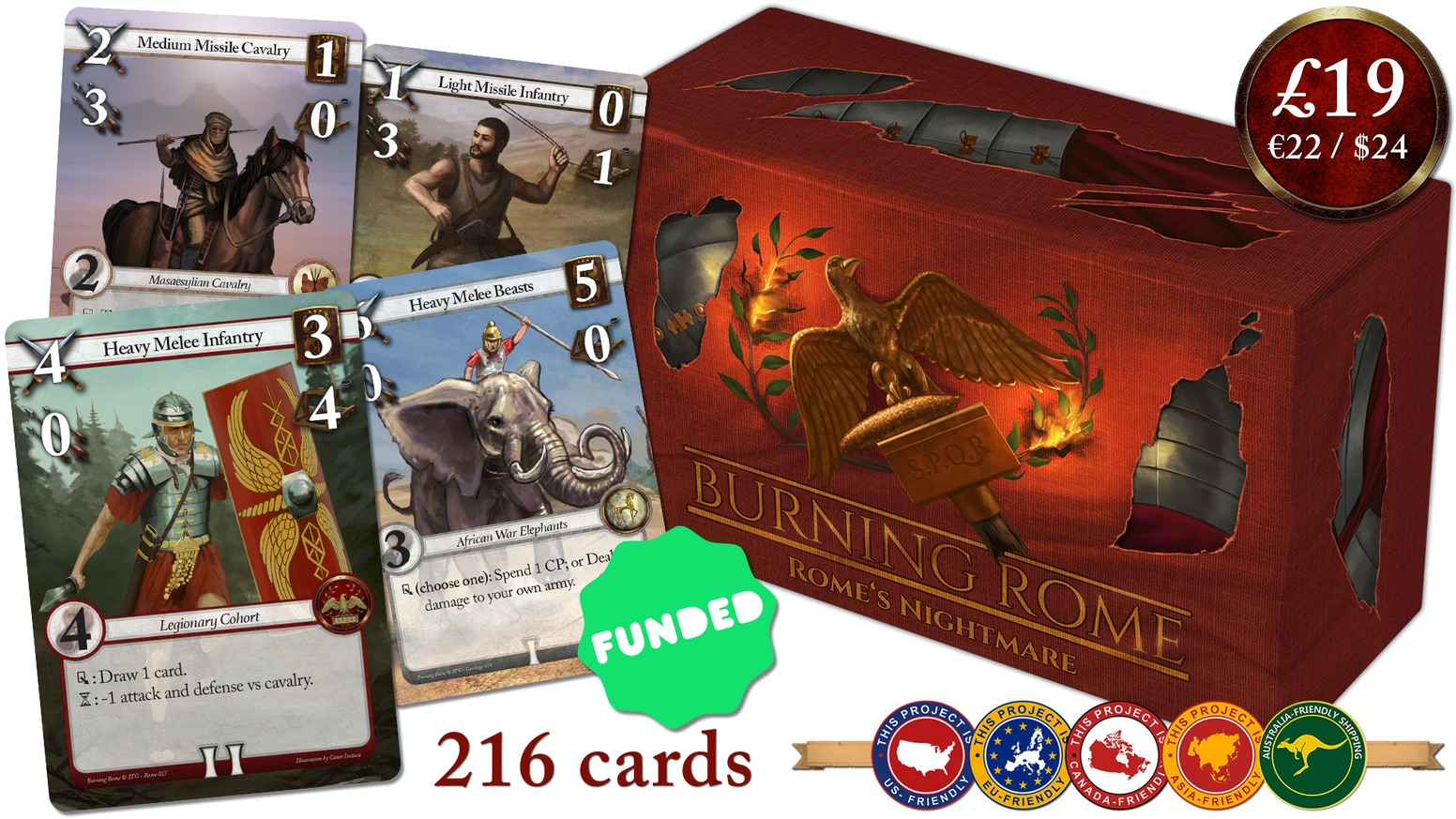 Will you save Rome, or destroy her? A quick tactical card game with ancient battles, deck construction and lots of replayability.