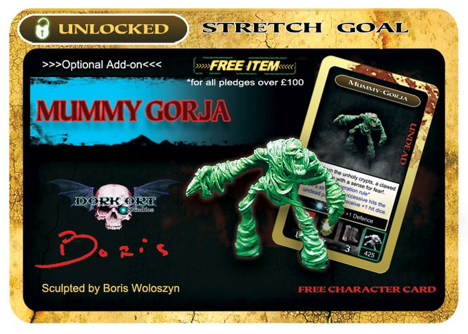 Mummy Gorja will all be available in high quality resin & lead free alloy metal