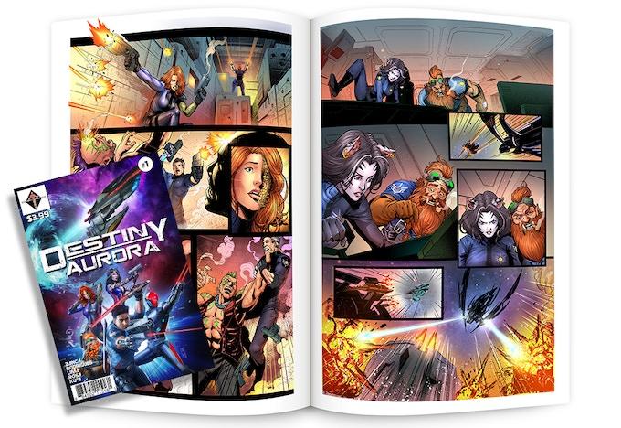Destiny Aurora Comic Book