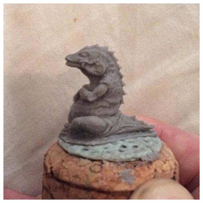 Pet Lizard sculpt in progress from Dave Cauley
